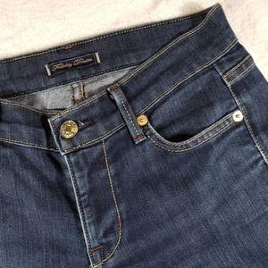 Fidelity Denim Mid Rise Flare Mid Wash Jeans sz 25